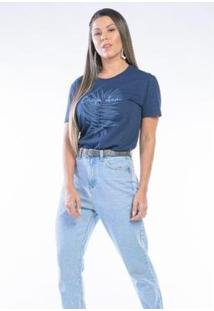 Camiseta Cia Gota Manga Curta Carpe Dien Feminina - Feminino