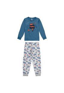 Pijama Malwee 1000077479 Infantil Azul