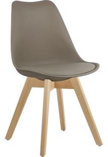 Cadeira Marrom Nude Charles Eames Style Soft Wood Em Pp