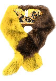 Versace Cachecol Com Pelos - Amarelo