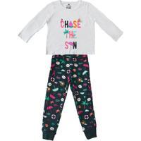 01e17b834 Pijama Para Menina Estampado Gola Redonda infantil | Shoes4you