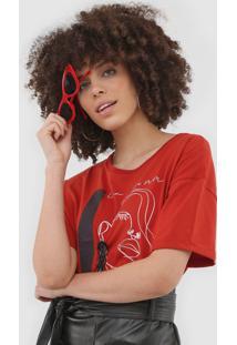 Camiseta Sommer Estampada Vermelha