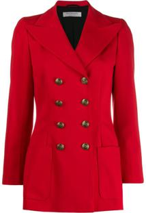 Philosophy Di Lorenzo Serafini Fitted Double-Breasted Jacket - Vermelho