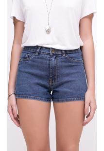 Short Cintura Média Em Jeans