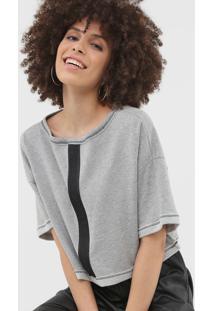 Camiseta Cropped Forum Logo Cinza - Kanui
