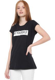 Camiseta Calvin Klein Jeans Be Yourself Preta
