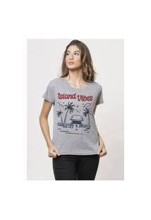 Camiseta Jay Jay Basica Island Vibes Cinza Mescla Dtg