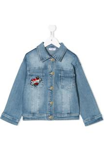Monnalisa Minnie Mouse Sequinned Denim Jacket - Azul