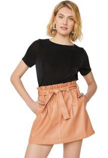 Amaro Feminino Camiseta Malha Basic, Preto