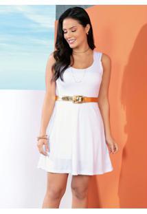 Vestido Branco Com Alças Largas