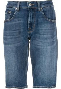 7 For All Mankind Short Jeans Slim - Azul