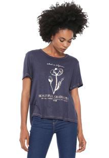 Camiseta Forum Metalizada Azul-Marinho