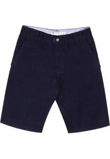 Bermuda Sarja Slim Com Bolsos Pernambucanas Masculina - Masculino-Azul+Marinho