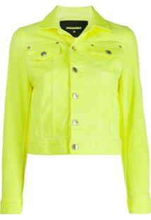 Dsquared2 Cropped Denim Jacket - Amarelo