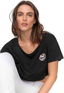 Camiseta Cropped My Favorite Thing(S) Estampada Preta