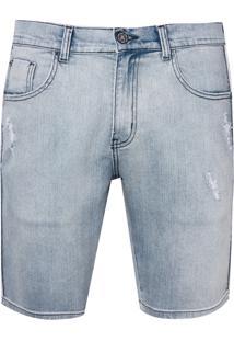 Bermuda John John Clássica Texas Jeans Azul Masculina (Jeans Claro, 36)