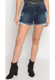 Short Jeans Com PuãDos - Azul Escurocalvin Klein