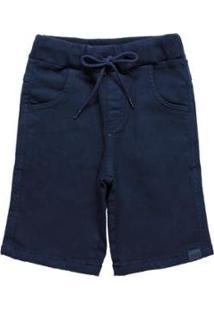 Bermuda Infantil Quimby Bolso Masculina - Masculino-Azul