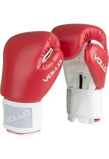 Luva De Boxe Muay Thai Combat Vollo - Preta - 12Oz - Unissex