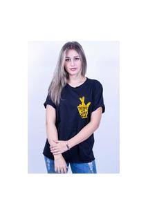 Camiseta Bilhan Corte A Fio Figa Pqn Preta