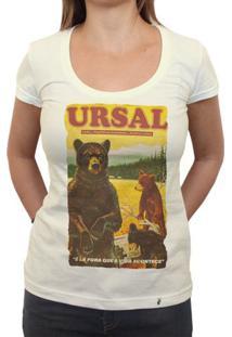 Ursal Lá Fora - Camiseta Clássica Feminina