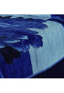 Cobertor Casal Tramore Poliéster Microfibra Jolitex 1,80Mx2,20M Azul