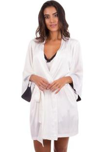 Robe Curto De Cetim Inspirate - Feminino-Off White