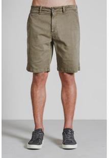 Bermuda Alfaitaria Comfort Armadillo Masculina - Masculino-Verde Militar