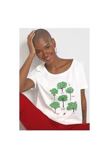 Camiseta Cantão Árvores Off-White