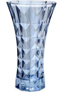 Vaso Diamant- Cristal & Azul Claro- 25,5Xø14,5Cmrojemac