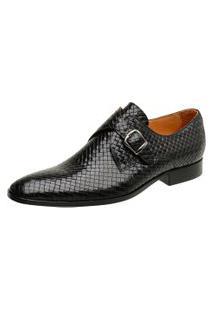 Sapato Masculino Malbork Trançado Couro 60462 Preto