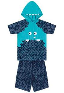 Pijama Infantil Marisol Masculino - Masculino-Azul+Marinho