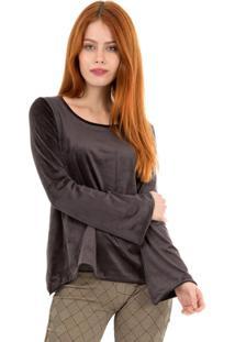 Camiseta Manga Longa Sino Suede 41Onze Preta - Tricae