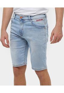 Bermuda Jeans Ecko Jeans Slim Masculina - Masculino-Azul