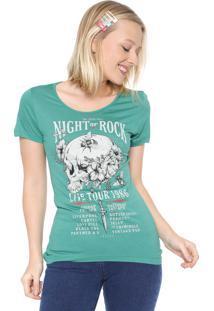 Camiseta Colcci Estampada Verde