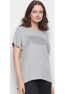 Camiseta Colcci Bravery Com Aplicação Feminina - Feminino-Mescla