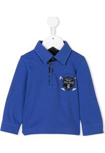 Lapin House Camisa Polo Com Patch - Azul