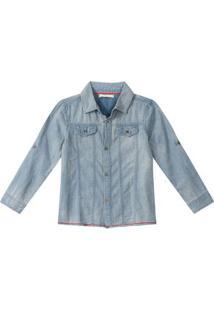 Camisa Tigor T. Tigre Azul Menino