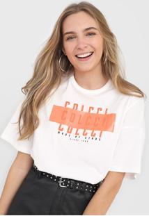 Camiseta Colcci Lettering Neon Off-White - Kanui