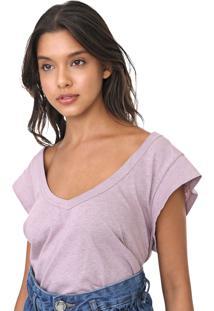 Camiseta Colcci Lisa Lilã¡S - Lilã¡S - Feminino - Algodã£O - Dafiti