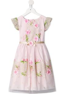 Lesy Vestido Midi Floral - Rosa
