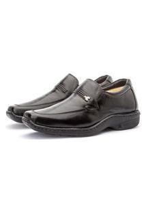 Sapato Masculino Social De Couro Conforto Preto