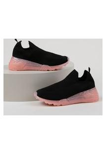 Tênis Feminino Oneself Sneaker Chunky Knit Preto