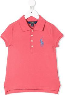 Ralph Lauren Kids Camisa Polo Com Logo Bordado - Vermelho