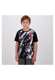 Camisa Vasco Fold Infantil Preta
