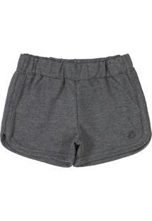 Shorts Menina Básico Moletom Cinza