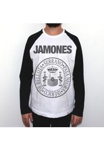 Jamones - Camiseta Raglan Manga Longa Masculina
