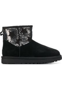 Ugg Australia Sequined Star Embellished Ankle Boots - Preto