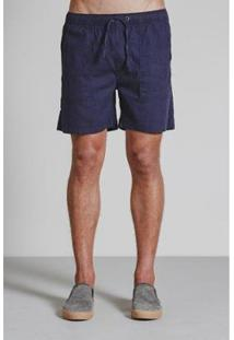 Bermuda Square Pocket Masculina - Masculino-Marinho