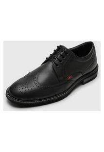 Sapato Ferracini Laser Cut Preto